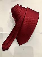 Галстук мужской Croate однотонный структурный красный