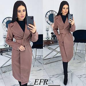 Классическое кашемировое пальто с поясом