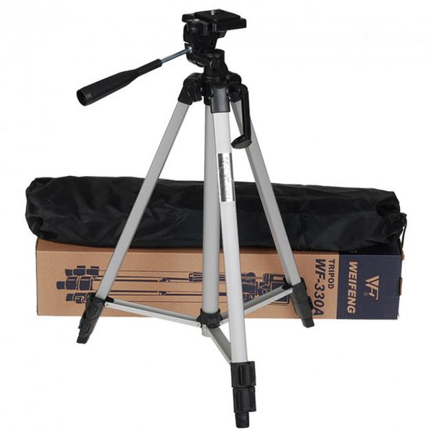 Універсальний штатив для камери Tripod 330A (135 см) + кріплення для телефону