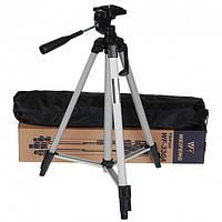 Універсальний штатив для камери Tripod 330A (135 см) + кріплення для телефону, фото 1