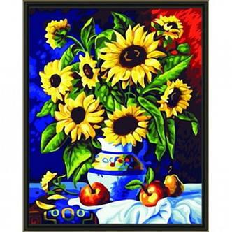 Картина по номерам Букет подсолнухов, фото 2