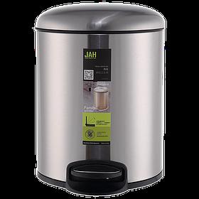 Ведро для мусора JAH 12 л (алюминий, цвет металлик, внутреннее ведро)