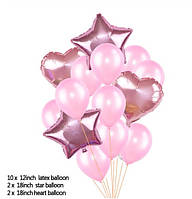 """Набор шаров """"Розовый микс"""", 14 шт"""