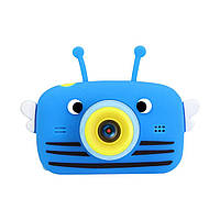 Детский цифровой фотоаппарат Smart Kids 20 Мп (с селфи камерой) blue