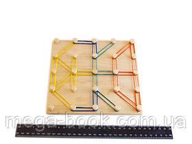 """Математический планшет игрушка """"Фантазируем с резиночками"""" 5*5 геоборд"""
