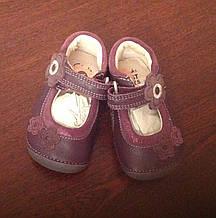 Кожаные туфли детские Clarks 17 р (10,8 см)