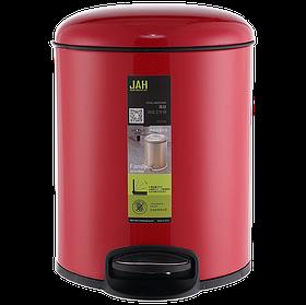 Ведро для мусора JAH 4 л (алюминий, цвет красный, внутреннее ведро)
