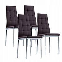 Кухонные стулья 4 шт PRESTIGE BROWN