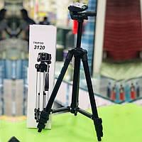 Штатив тренога для камеры Tripod 3120A (102 см) + крепление для телефона, фото 1