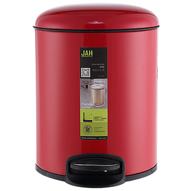 Ведро для мусора JAH 7 л (алюминий, цвет красный, внутреннее ведро)