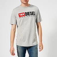 "Футболка ""В стиле Diesel denim division"" топ   логотип принт"