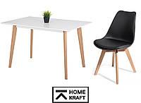 Комплект стол для кухни JOVIK + 4 стула BREKKA HOMEKRAFT