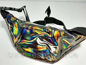 Поясная сумка бананка бронза галографическая опт, фото 2