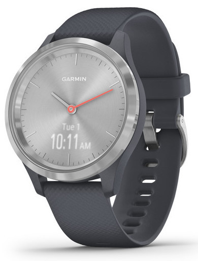 Смарт-годинник Garmin Vivomove 3S Silver Stainless Steel Bezel with Granite Blue Case and Silicone Band