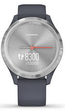 Смарт-годинник Garmin Vivomove 3S Silver Stainless Steel Bezel with Granite Blue Case and Silicone Band, фото 2