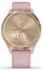 Смарт-годинник Garmin Vivomove 3S Light Gold Stainless Steel Bezel with Dust Rose Case and Silicone Band, фото 2