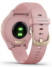 Смарт-годинник Garmin Vivomove 3S Light Gold Stainless Steel Bezel with Dust Rose Case and Silicone Band, фото 3