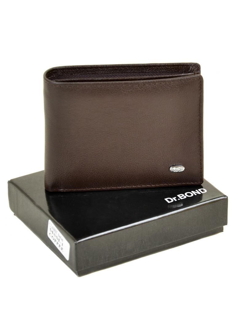 Кошелек мужской кожаный DR. BOND Classic коричневый