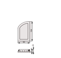 Заглушка рельсы  стенная правая