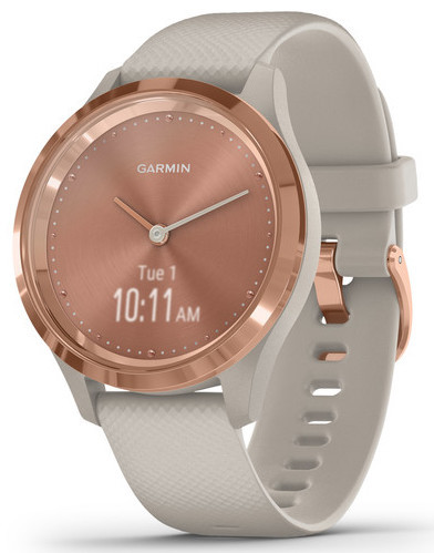 Смарт-годинник Garmin Vivomove 3S Rose Gold Stainless Steel Bezel with Light Sand Case and Silicone Band