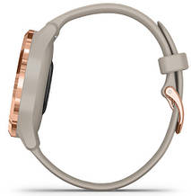 Смарт-годинник Garmin Vivomove 3S Rose Gold Stainless Steel Bezel with Light Sand Case and Silicone Band, фото 3