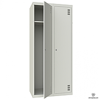 Шафа для одягу подвійний  гардеробный металлический на производство ШМ-2-2-400х1800