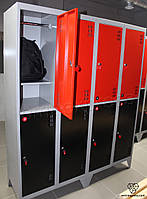 Шкаф металлический гардеробный в школу ШМ-4-8-300х900