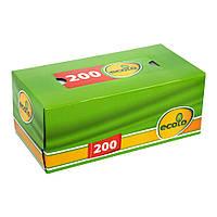 Салфетка косметическая Ecolo 2 слоя 200 листов в коробке
