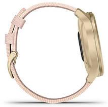 Смарт-годинник Garmin Vivomove Style Light Gold Aluminum Case with Blush Pink Woven Nylon Band, фото 3