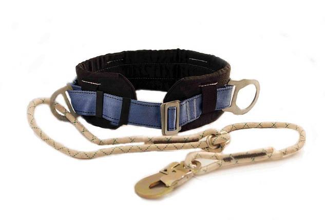 Пояс предохранительный ПБ1 со стропом из плетеного шнура, фото 2