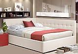 Угловая кровать Лион в мягкой обивке, фото 5