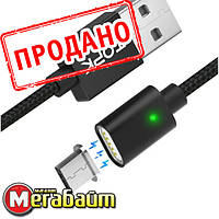 Магнитный Кабель TOPK F-Line Micro USB 1м Cable Black