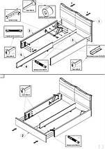 Кровать двуспальная Меланж (Embawood) MW1800 с подъемным механизмом, фото 3