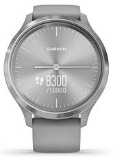 Смарт-годинник Garmin Vivomove 3 Silver Stainless Steel Bezel with Powder Gray Case and Silicone Band, фото 2