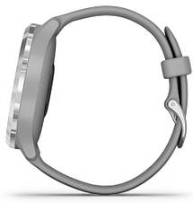 Смарт-годинник Garmin Vivomove 3 Silver Stainless Steel Bezel with Powder Gray Case and Silicone Band, фото 3