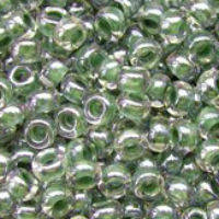 Бисер Preciosa Чехия №38659 50г, грязно-зеленый прозрачный с внутренней окраской