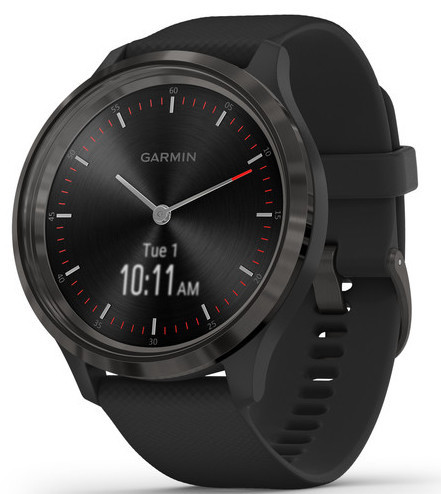 Смарт-годинник Garmin Vivomove 3 Slate Stainless Steel Bezel with Black Case and Silicone Band