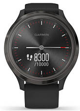 Смарт-годинник Garmin Vivomove 3 Slate Stainless Steel Bezel with Black Case and Silicone Band, фото 2