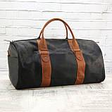 Дорожная сумка tube 2 чёрная из натуральной кожи crazy horse, фото 2