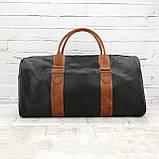 Дорожная сумка tube 2 чёрная из натуральной кожи crazy horse, фото 3