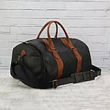 Дорожная сумка tube 2 чёрная из натуральной кожи crazy horse, фото 5