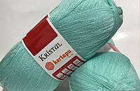Турецкая  пряжа для вязания KARTOPU- kristal (кристалл)-  1508 бирюза