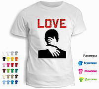 Футболка Love поцелуй
