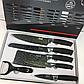BASS набір ножів (з силіконовою ручкою), 6 предметів, фото 3