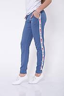 Спорт штаны женские 102R033 цвет Джинс