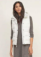 Женская пуховая  жилетка  WHITE A&F HOODED PUFFER VEST Abercrombie & Fitch