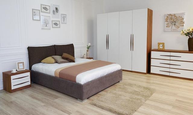 Кровать двуспальная Меланж (Embawood) в интерьере