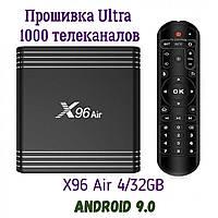 Настроенная Смарт Приставка X96 Air 4/32GB Android 9.0 Прошивка Ultra 1000 каналов
