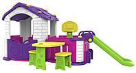 Большой игровой дом 5 в 1 C вестибюле и горкой