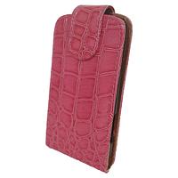 Чехол книжка на Nokia Asha 501 Змеиный принт Розовый
